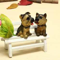 Mini Wooden Long Chair Furniture Photo Props Art Crafts