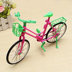 Miniature Aftagelig Cykel Legetøj Passer Barbie Drejeligt Hjul