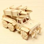 Missil Truck Flash & Åska V410 3D DIY Trä Montering Pussel Modellbyggsatser