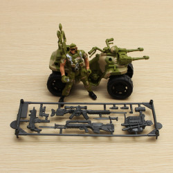 Motocross Soldier Set Movable Joints Model Toy Action Figure