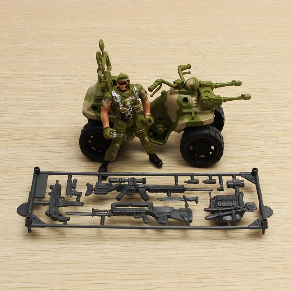 Motocross Soldat Set bewegliche Gelenke Modell Spielzeug Action Figur Spiel