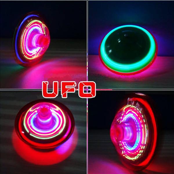 Musical Gyro Flash LED Licht bunte Spinning Kinder Spiel