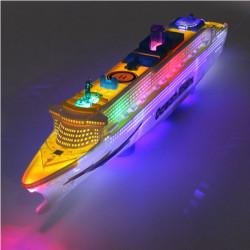 Ocean Liner Ship Boat Elektrisk Legetøj Flash LED Lights Sounds Børn