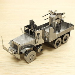 PIECECOOL Air Defense Truck DIY 3D Laserskurna Modeller Pussel