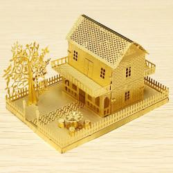 PIECECOOL Lille Hus DIY 3D Laser Cut Modeller Puslespil