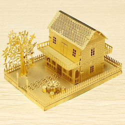 PIECECOOL Little House DIY 3D Laserskurna Modeller Pussel