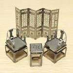 PIECECOOL Retro Furniture Sets DIY 3D Laser Cut Models Puzzle Toys Model