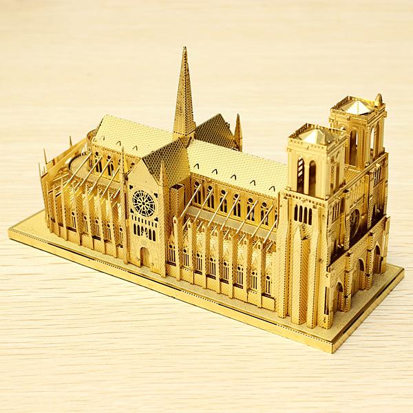 Piececool Notre Dame Cathedral Paris DIY 3D Laser Cut Models Puzzle Toys Model