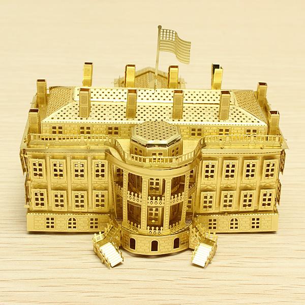 Piececool Vita Huset DIY 3D Laser Cut Modeller Pussel Modellbyggsatser