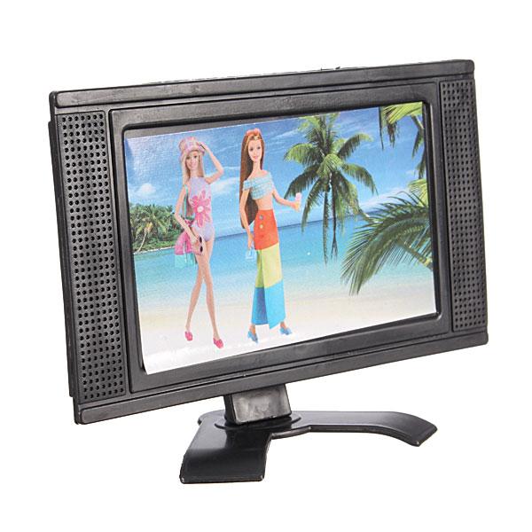 Plast Leksak Platt Möbler för Dockhus Löstagbar LCD-TV Televisions Spel & Lek
