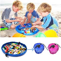 Bærbar Opbevaringspose Legetøj Organizer Rug Box Børn Spil Mat 45cm