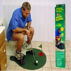 Potty Putter Toilet Golf Game Mini Golf Toys