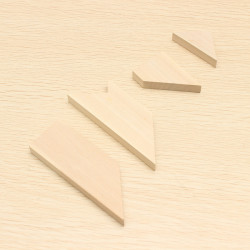 Set Of 4 Pieces Wooden IQ Enhancer Makes 100 Puzzle Shapes