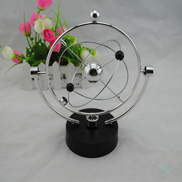 Silver Kinetic Orbital Desk Decoration Celestial Newton Pendulum Pædagogisk Legetøj