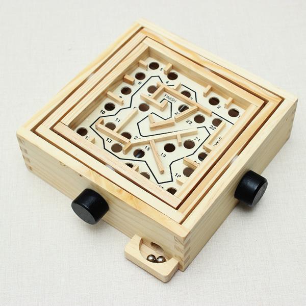 Kleine Geschicklichkeit Bead Maze Puzzle Spiel Lernspiele