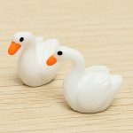 Mini White Swan för DIY Micro Landskap Dekoration 2 PCS Coola Prylar