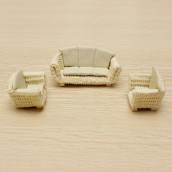 The Model Material Indoor Scene Decoration Ceramics Sofa Set 1:25