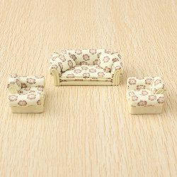 The Model Material Indoor Scene Decoration Ceramics Sofa Set 1:30