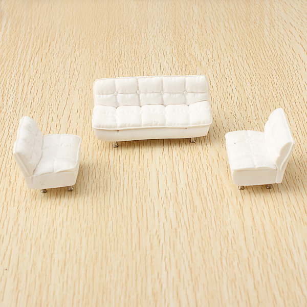 The Model Material Indoor Scene Decoration Sofa Set 1:25 Game & Scenery Toy