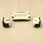 The Model Material Indoor Scene Decoration Sofa Set 1:30 Game & Scenery Toy