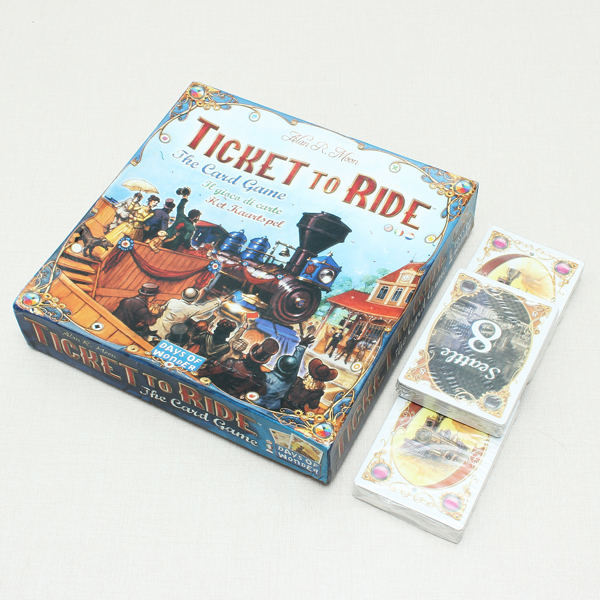 Ticket to Ride Railway Mission Card Game Kinesiska Engelska Version Pedagogiska Leksaker