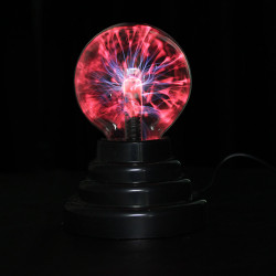 USB Plasma Klumpa Ihop Sfär Blixt Ljus Magiska Kristall Lampa Globe Laptop