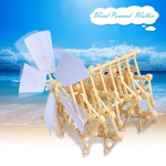 Windmühle Wandern Walker Mini Strandbeest DIY Versammlungs Modell Kits Spielzeugmodell & Modellbausätze