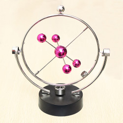 Wine Red Kinetic Orbital Desk Decoration Celestial Newton Pendulum