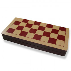 Wood International Chess Set mit Klappbrett
