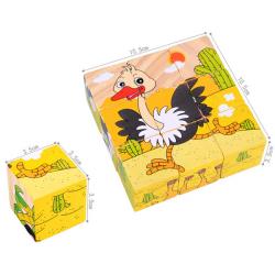 Træ 3D Forest Animals Puslespil Wisdom Jigsaw Børn Education Legetøj