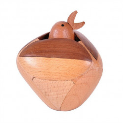 Wooden Craft Ornaments Bird Kongming Lock Luban Lock Toys
