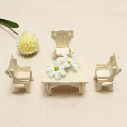 Wooden Miniature Furniture Puzzle DIY Educational Toys