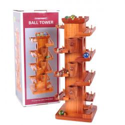 Holzschiebeblock Triebwagen mit Glasperlen pädagogisches Spielzeug
