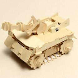 Træ Tank RC Bil 3D Stereo DIY Træ Montering Puslespil