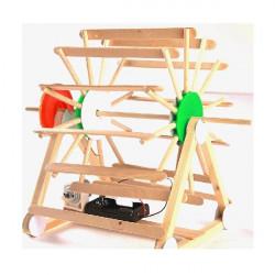 Træ Water Wheel Model Educational Model Legetøj for Børn