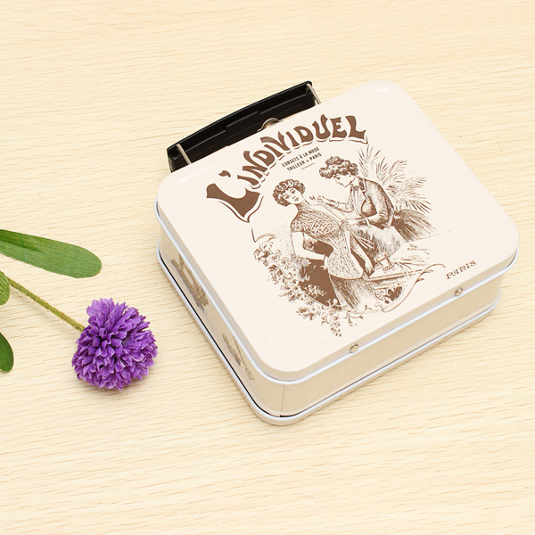 Zakka Dagligvarer Restore Gamle Laptop Mini Bærbar Syning Tin Box Coola Gadgets