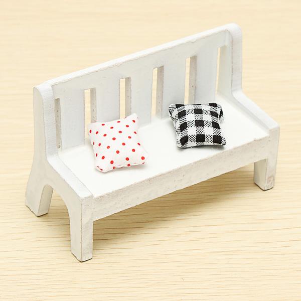 Zakka Mini Möbler Double Chair med Kudde Coola Prylar