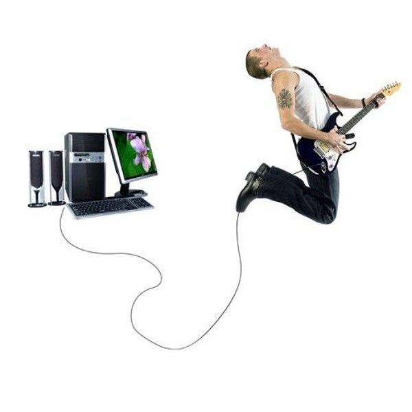 10feet 6,3 mm USB Gitarren Kabel für PC Recording Kabel Adapter Musikinstrumente