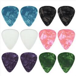 12pcs Guitar Picks Thin 0.46 mm Celluloid Coloured Plectrums