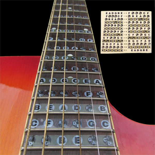 1pc Guitar Fretboard Note Sticker Musical Scale Label Beginner Decal Musical Instruments