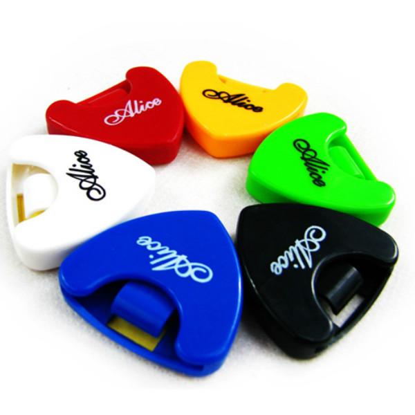 1x Portable Plactic Guitar Pick Plectrum Holder Case Box Musical Instruments