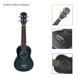 "21"" Spruce Ukulele Gradient Blue Musikinstrument"