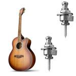 2ST Silber Leiter Chrome Gürtel Knöpfe Straplocks für E Gitarre Bass Musikinstrumente