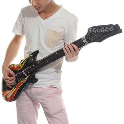40 Uppblåsbara Flame Gitarr Musikinstrument Leksak Pool Party