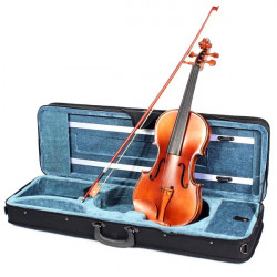 4/4 Handmade Spruce Violin Ebony Fingerboard with Bow Rosin Case