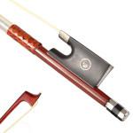 4/4 Violin Fiol Tillbehör Brazilwood Wrapping Vinkel Violin Fiol Bow Musikinstrument