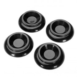 4stk Sort Plast Upright Piano Caster Cups Pads Floor Protector