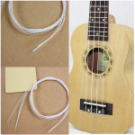 "4stk 21"" Hawaii Ukulele Weiß Nylon String Musikinstrumente"