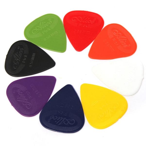 50pcs Acoustic Electric Guitar Bass Celluloid Picks Plectrums Mix Color Musical Instruments