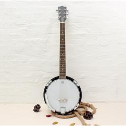 6-string Banjo Exquisite Professional Sapelli Notopleura Wood Alloy